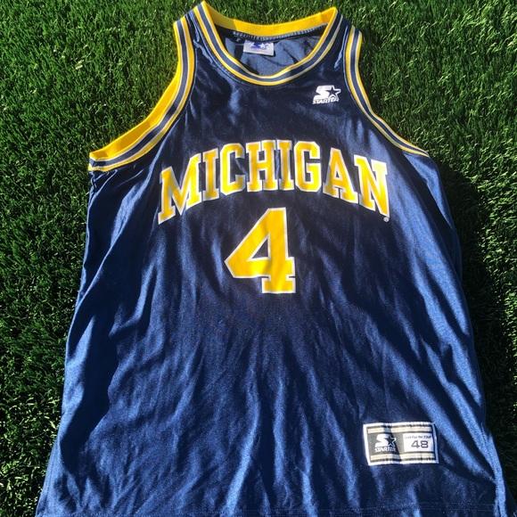 size 40 be08a a6f3c Chris Webber Michigan Starter Jersey Jersey
